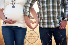 Cute couple maternity shot