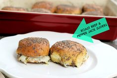 Roast Beef and Pepper Jack Sliders