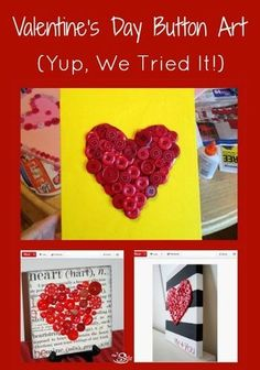 Easy Handmade Valentine's Art That's Cute as a Button (VIDEO)