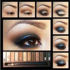 makeup tutorials, eye makeup, urban decay, blue, night looks, dramatic eyes, beauti, nake palett, diy makeup