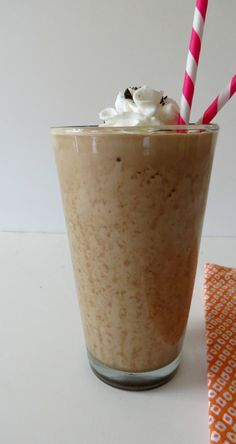 Chocolate Mocha Mudslide Frappe  - A creamy, thick frozen coffee drink made with cocoa and banana