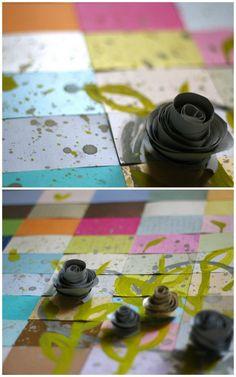 DIY: Modern Paper Flowers [sugarandcloth.com]