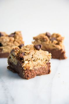 Black bean brownies with pb oat layer