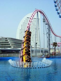 Yokohama, Japan. Zoinks! water, japan, dubai, noway, amusement parks, roller coasters, travel, place, bucket lists