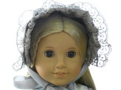 American Girl Doll Clothes - Doll Hat - Dress Bonnet - Misty Morning Colors