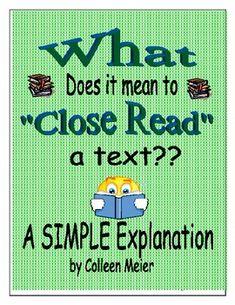 classroom, idea, literaci, read ccss, grade, ela, educ, close reading, closeread