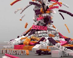 inspiration, purple, typography poster, fashion art, pink, typography art, 3d typographi, typographic design, 3d typography