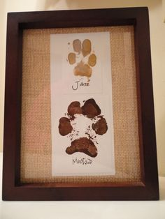 Made my dogs paw prints :)