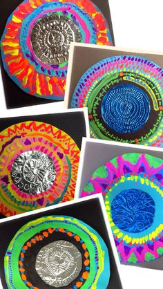 West Middleton Art Smarties: Gr. 2: Mexican Metalwork, frame painting inspired by alebrijes