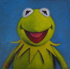 Kermit oil painting