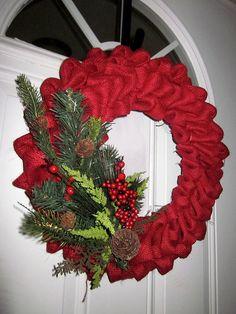 Burlap Wreaths  trendytree.com