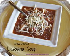 365 Days of Slow Cooking: Easy Recipe for Slow Cooker (crockpot) Lasagna Soup