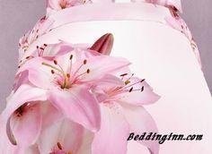 #lilies #bedding #homedecor Elegant Pink Lilies Print 4 Piece Bedding Sets  Buy link-->http://goo.gl/H1Swd5 Discover more-->http://goo.gl/w538Va Live a better life,start with @beddinginn