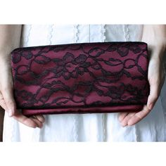 #Lace it up Wedding Clutch
