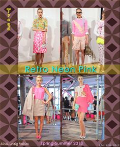 Retro Neon Pink |  Hot Pink Color Trend for Spring Summer 2013!  J.Crew & Kate Spade  Spring Summer 2013. #Fashion  #Trends  Oct 12th, 2012 11:03 p.m. GMT.