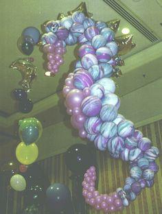balloon decor, sea hors, balloon sculptur, seahors balloon, parti idea