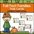 Fall Fact Family Task Cards includes 3 Math Centers to practice Fact Families with addition and subtraction. $