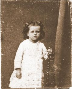 Saint Therese at age 3. This photo was appropriately taken on July 16, the feast of Our Lady of Mount Carmel.