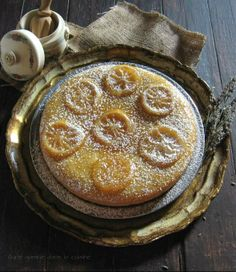 lemon cornmeal cake with candied lemon slices | une gamine dans la cuisine
