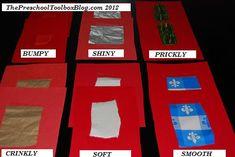 DIY Texture Cards for #Preschool and #Kindergarten #5Senses