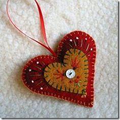 felt ornament or sachet, perhaps?