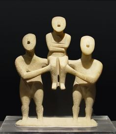 Cycladic figures- from around the 3rd-2nd millennia BCE