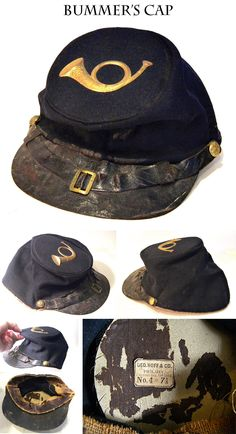 """Regulation Issue 1858 Pattern Fatigue or """"Bummer"""" Cap: The iconic piece of Civil War headgear."""