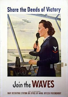 WAVES recruiting poster WWII.