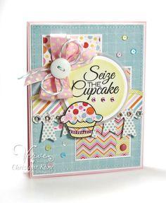 Seize the Cupcake by Christyne Kane using Carpe Cupcake by Verve Stamps. #vervestamps