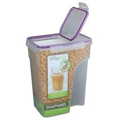 Keep dog or cat food in a cereal container.  It's easier to pour, less bulky than the bags, and keeps it fresher longer.