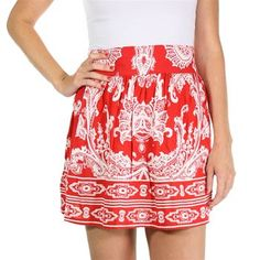 Angie Women's Floral Mini Skirt