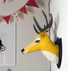Yellow Deer Head