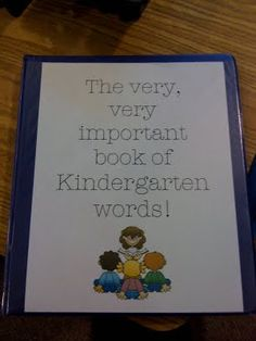 Ms.M's Blog: The Very, Very Important Book Of Kindergarten Words