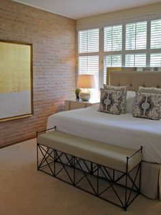 Headboard & brick wall