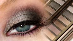 Gray Smokey Eye | UD NAKED2 Palette... I watched this and she's kind of a mess.