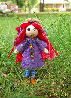felted fairy doll