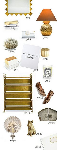 {at the office | decor inspiration : white, gold & leopard print} by {this is glamorous}, via Flickr
