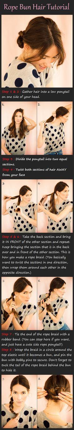 Rope Bun Hair Tutorial