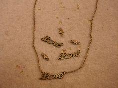 """colgante """"love"""""""