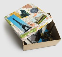 Vacation Scrapbox - A new and easier twist on a scrapbook. Using a box also allows you to include three-dimensional items that don't fit in a scrapbook. Add photos, tickets and other memorabilia.  Print the photos at Kodak Picture Kiosk.