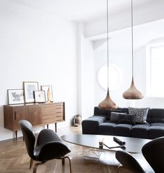copper, herringbone, & mid-century modern furniture