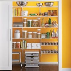 The pantry kind of seems backlit, I don't think it is, but it's a cool idea.