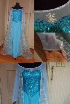 Frozen Elsa Costume by CosplayEmporiumShop on Etsy, $200.00