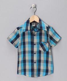 Knuckleheads & Hula Mula Blue Plaid Lincoln Shirt