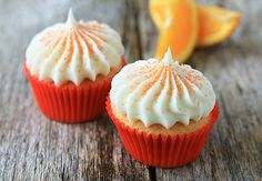 Orange Cupcakes with Cream Cheese Frosting - Recipe.