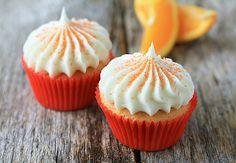 Orange Cupcakes w/ Orange Buttercream