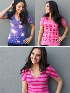 DIY: custom t-shirts