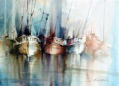 Seascape | Watercolor by Fabio Cembranelli