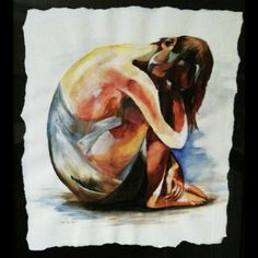 """""""In The Past""""  Watercolor"""