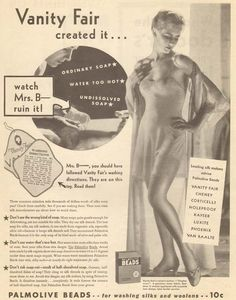 Vanity Fair Lingerie 1917